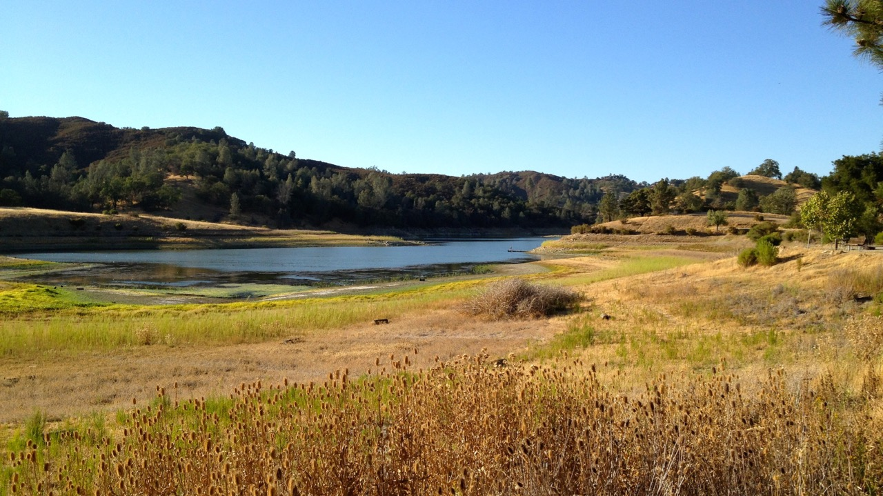 View of Santa Margarita Lake, CA, USA