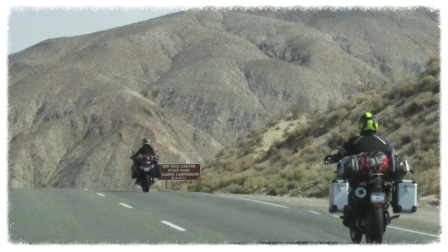 Jess and Greg ride Highway 14 in California