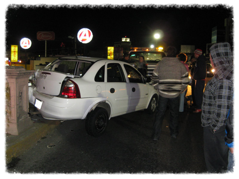 Our car accident in Toluca