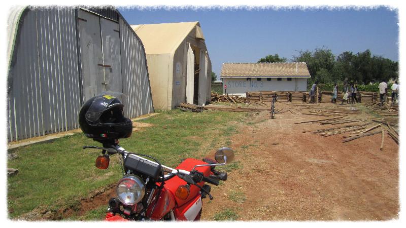 Motorbike at work site