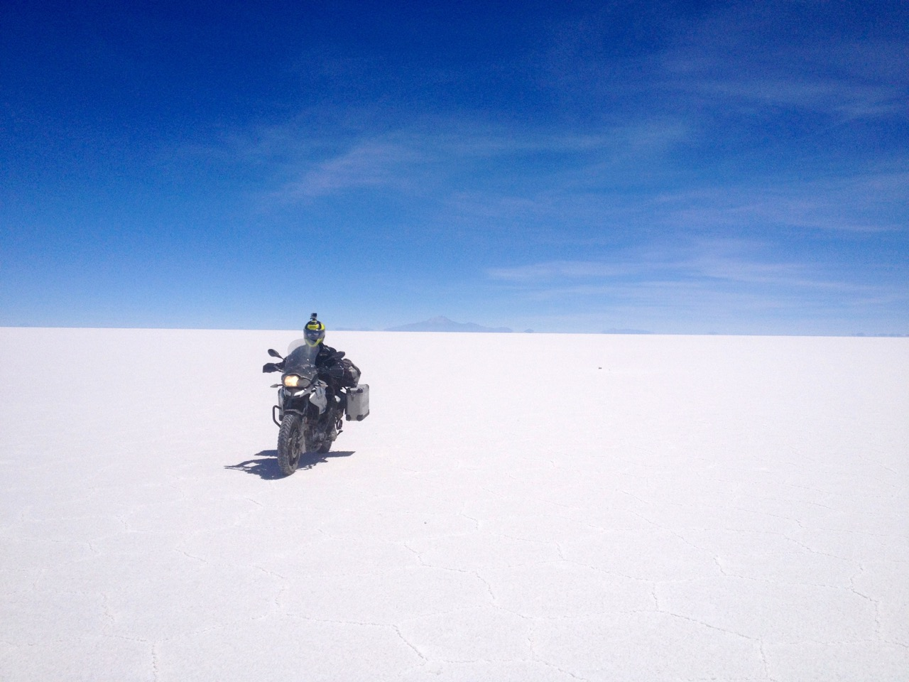 Greg rides Salar de Uyuni, Bolivia