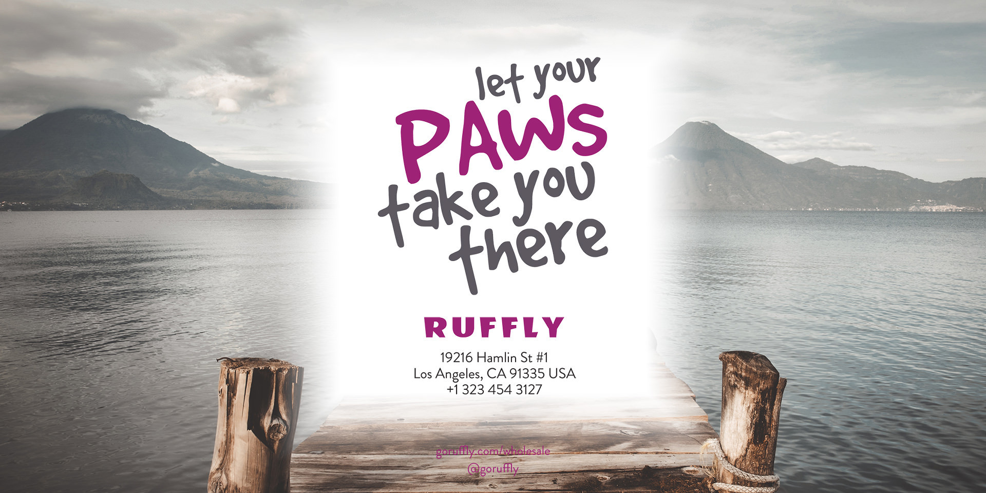 RUFFLY Lookbook – Back Cover – RUFFLY's Contact Information