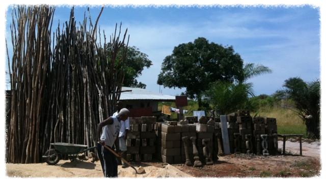Block maker in Duazon village