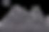 Silhouette of German Shepherd dog running across map