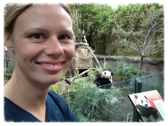 Jess and panda at San Diego Zoo