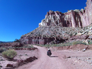 USA UTAH Capital Reef National Park Scenic Dr to Pioneer Register to Escalante