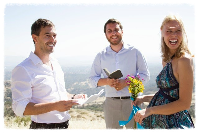 A small ceremony in the hills above Santa Barbara