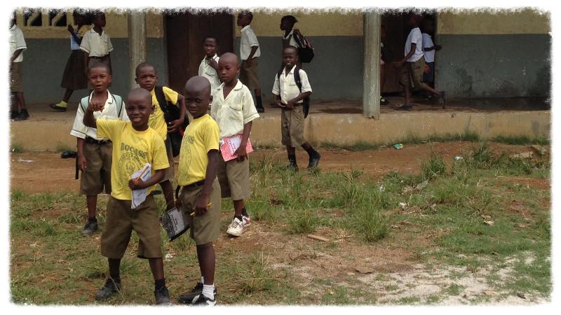School children at Stephen Tolbert Estate