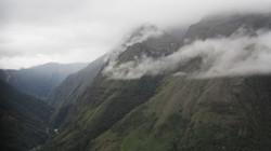 Misty view from Camino de la Muerte, La Paz, Bolivia