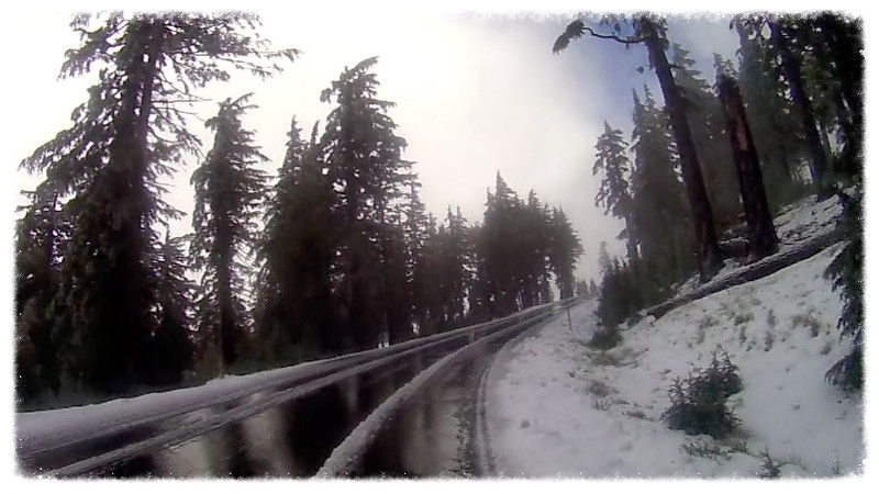 Snow in Crater Lake