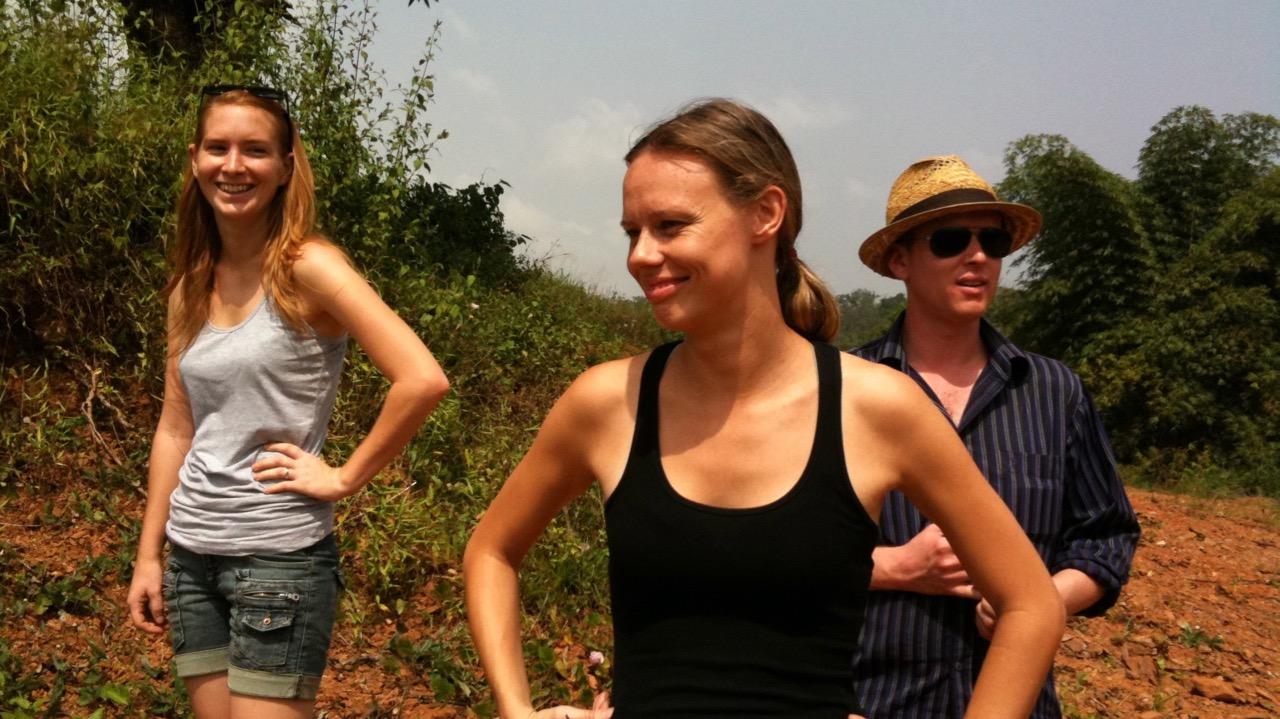 Lachlan, Nik, Jess at hydroelectric - Firestone, Liberia