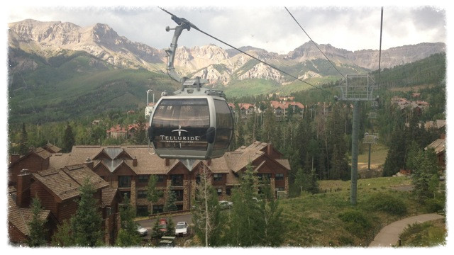View from gondola at Telluride