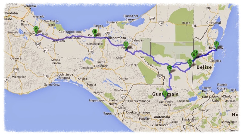 Days 93-100 route