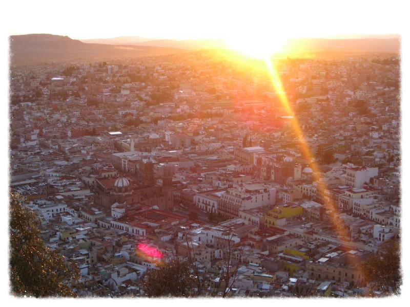 Zacatecas at sunset