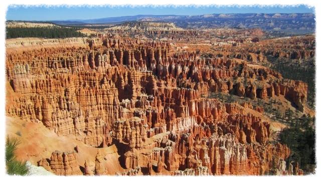 The hoodoos at Bryce Canyon