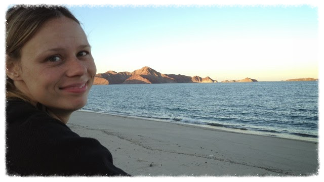 Jess on the beach at Gonzaga