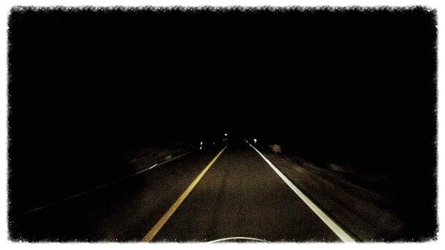 Riding at night to Bahia de los Angeles