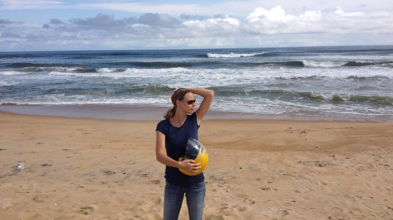 Jess on sunny beach - Montserrado County, Liberia