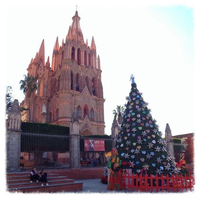 Parochial church and Christmas tree