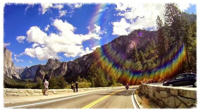 Riding through Yosemite