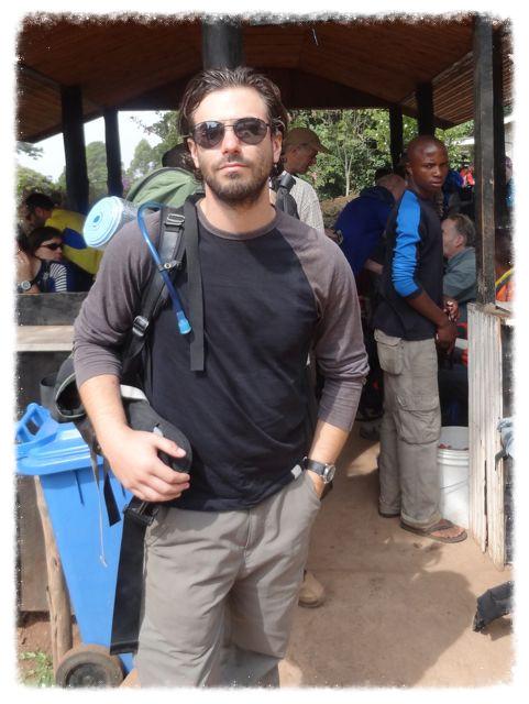Greg at Mweka Gate, Mount Kilimanjaro