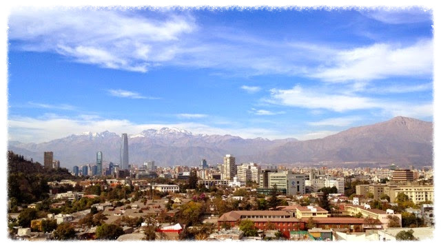 View from our apartment in Santiago
