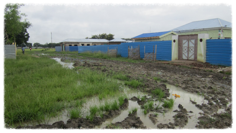 Mud after the rain in Malakal