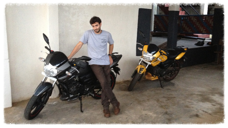Greg with Imelda (L) and Ghost Rider (R)