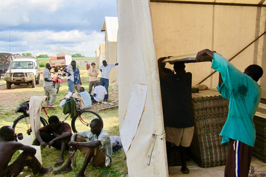 UNHCR aid project in South Sudan, Africa