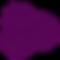 Simple icon of huckleberries in purple