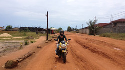Jess on road to Liberian Renaissance Education Complex (Ma Ell