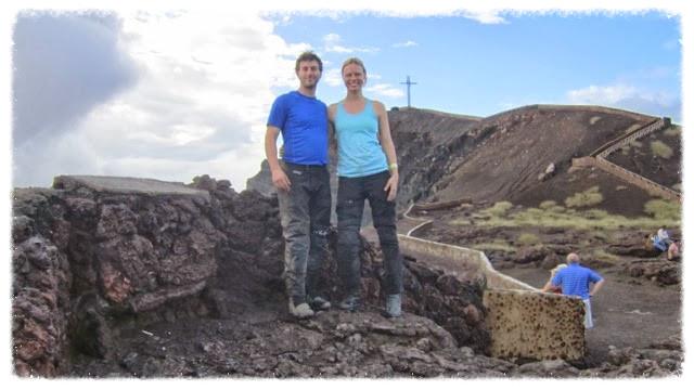 Us atop Volcán Masaya