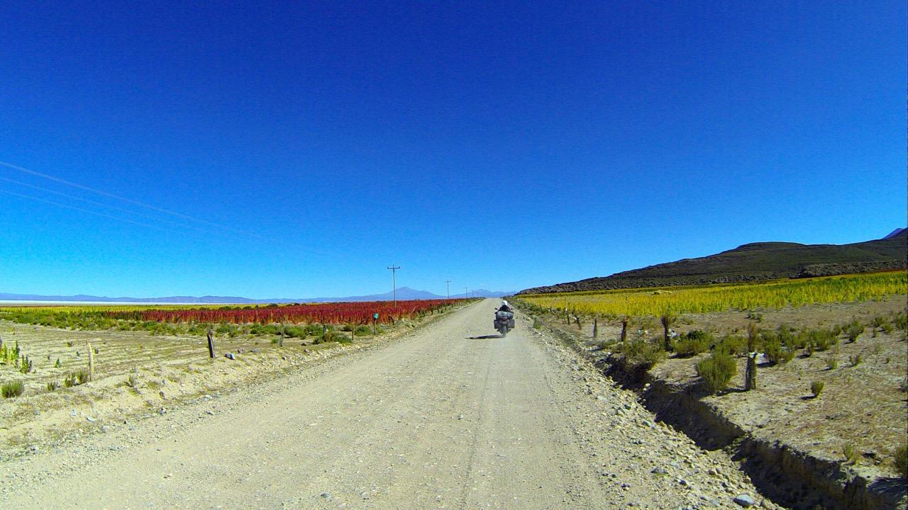 Jess rides Salar de Uyuni-Colcha K, Bolivia