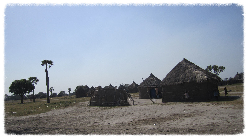 Tukols (traditional huts) in Dolieb, a village south of Malakal