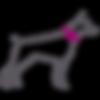Simple icon of large size dog