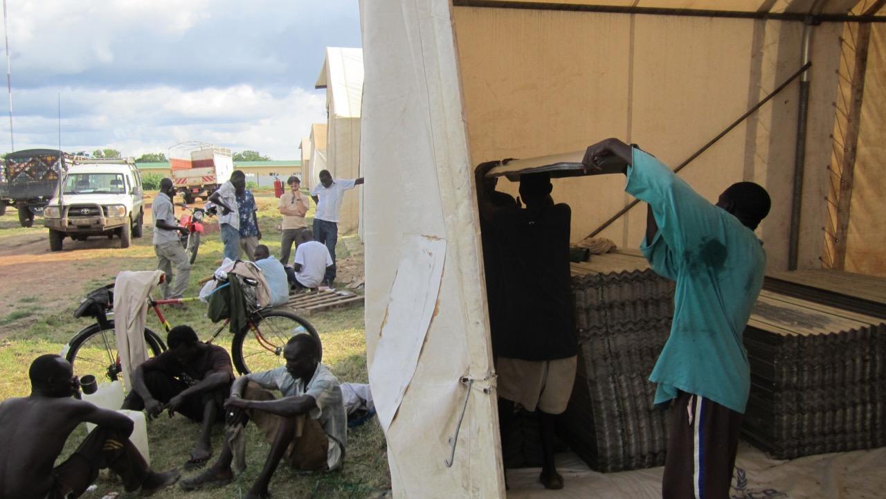 UNHCR team at UNHCR Rub Hall, Malakal, South Sudan