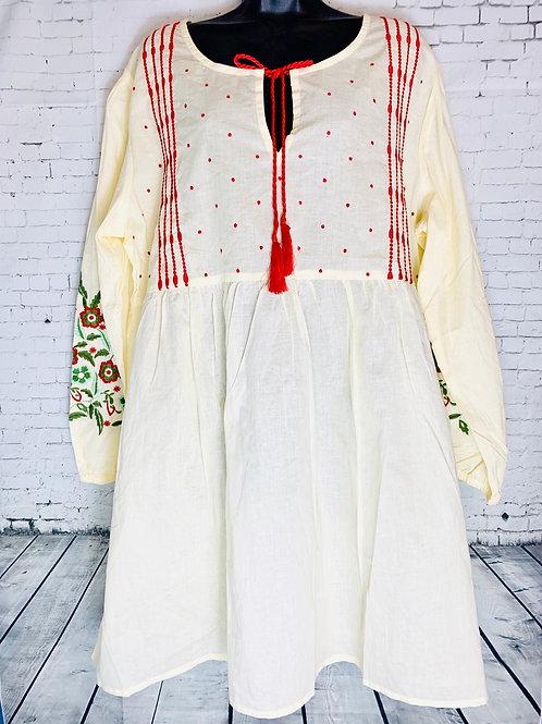 Cream Peasant Style Tunic