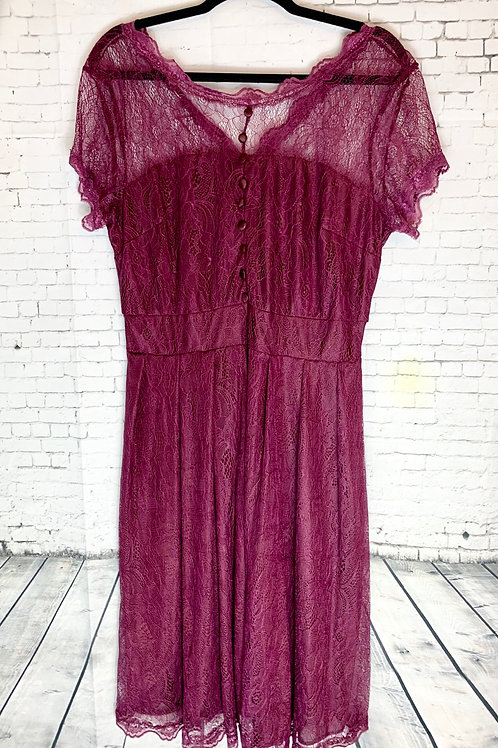 Wine Lace Vintage Inspired Dress
