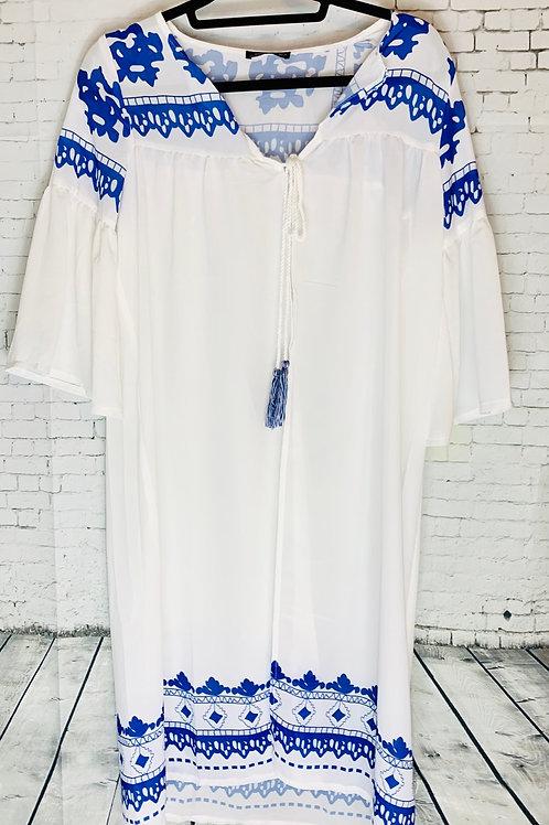 Blue & White Kimono