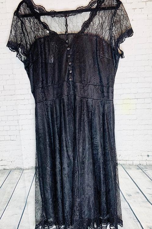 Black Lace Vintage Inspired Dress