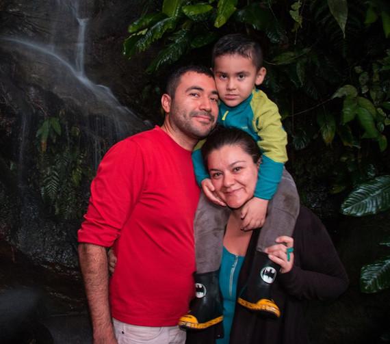 Giovany Guevara y familia