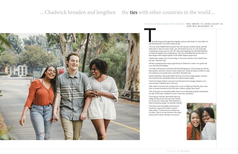 Annual Report Chadwick School