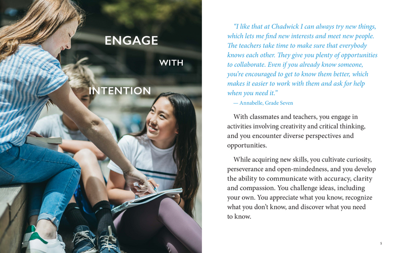 Look book for Chadwick School
