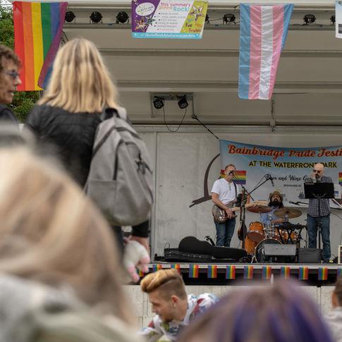 """Good Karma Blues"" at 2019 Bainbridge Pride Festival"