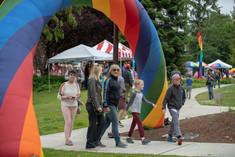Bainbridge Pride Festival - Rainbow Arches