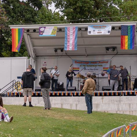 """Jefferson Row Boat"" Performing at the Bainbridge Pride Festival"