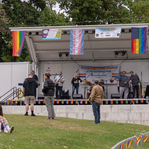 """Jefferson Row Boat"" Performing at the Bainbridge Pride Festival"