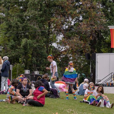 Crowd at Bainbridge Pride Festival