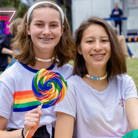 Festival Attendees at Bainbridge Pride Festival