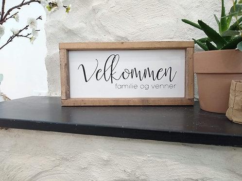 Velkommen : familie og venner (Norwegian Welcome)